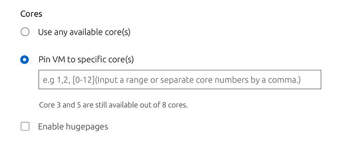 KVM:compose VM form pinned core